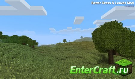 [1.6.4] BetterGrass And Leaves - реалистичная зелень
